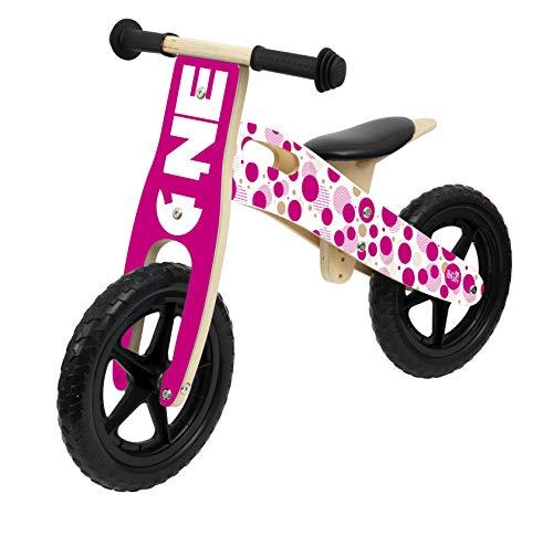 Sun&Sport - Balance Bike in Legno Girl - Biciletta Bambina Equilibrio - Bici Rosa Bimba 6 Anni - 1