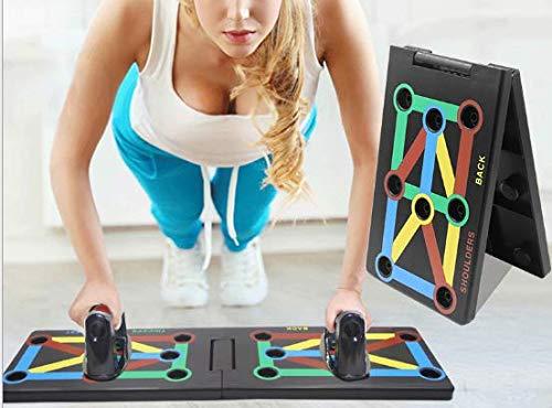 Surplex 9 in 1 Push Up Rack Board Fitness Gear Power Press Push up Staffa System Workout Training Gym Esercizio Rack Pieghevole Multifunzione Portatile per Body Building Allenamento A Casa Fitness - 1