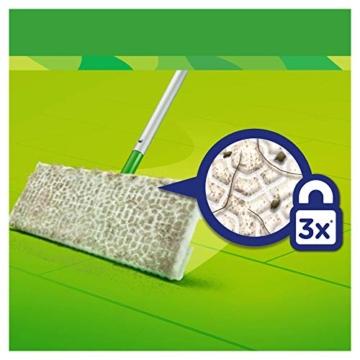 Swiffer Kit con 1 Scopa + 8 Panni per Pavimenti e 1 Piumino + 1 Ricambio, Ottimo per Peli di Animali - 3