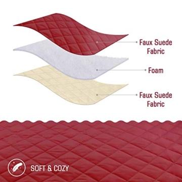 TAOCOCO Copridivano Poltrona Impermeabile Divano Protector Slipcovers (Borgogna, 3 posti 165 * 190cm) - 5