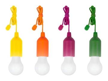 tempo di saldi 4 X Lampadina Led Portatile Colorata Senza Corrente Per Casa Campeggio Giardino - 1