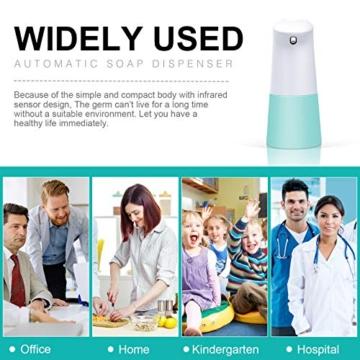 TESEU Dispenser Sapone Automatico 250ML Distributore di Sapone Schiumogeno Erogatore di Sapone Touchless con Sensore di Infrarossi per Cucina Bagno e WC - 4