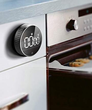 Timer da Cucina, Cronometro o Conto alla Rovescia Digitale Timer per Cottura Classe Studio Allenarsi Magnetico Countdown Contaminuti Egg Timer Kitchen Timer Display LCD, Knob Twist Design - 2