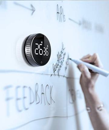 Timer da Cucina, Cronometro o Conto alla Rovescia Digitale Timer per Cottura Classe Studio Allenarsi Magnetico Countdown Contaminuti Egg Timer Kitchen Timer Display LCD, Knob Twist Design - 3