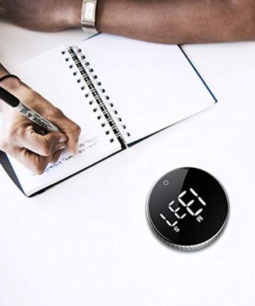 Timer da Cucina, Cronometro o Conto alla Rovescia Digitale Timer per Cottura Classe Studio Allenarsi Magnetico Countdown Contaminuti Egg Timer Kitchen Timer Display LCD, Knob Twist Design - 4
