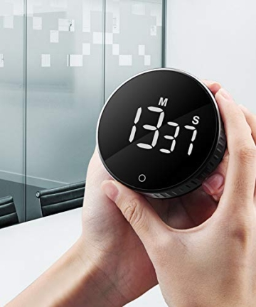 Timer da Cucina, Cronometro o Conto alla Rovescia Digitale Timer per Cottura Classe Studio Allenarsi Magnetico Countdown Contaminuti Egg Timer Kitchen Timer Display LCD, Knob Twist Design - 6