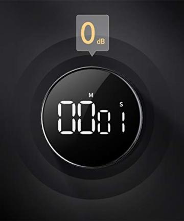 Timer da Cucina, Cronometro o Conto alla Rovescia Digitale Timer per Cottura Classe Studio Allenarsi Magnetico Countdown Contaminuti Egg Timer Kitchen Timer Display LCD, Knob Twist Design - 7