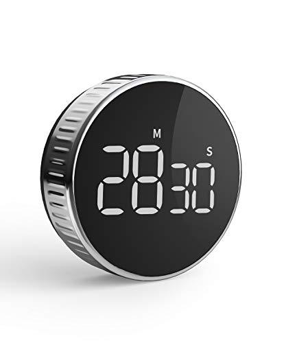 Timer da Cucina, Cronometro o Conto alla Rovescia Digitale Timer per Cottura Classe Studio Allenarsi Magnetico Countdown Contaminuti Egg Timer Kitchen Timer Display LCD, Knob Twist Design - 1