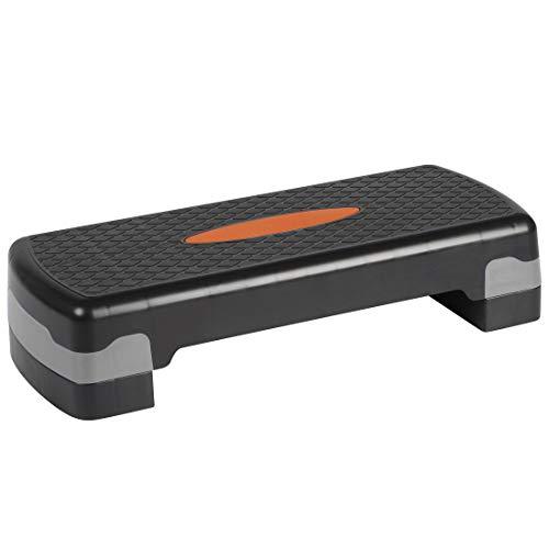 Ultrasport Aerobic, Panca Fitness Multifunzione Regolabile in Altezza, Step Casa, Stepper Unisex Adulto, Nero/Arancia, Taglia Unica - 1