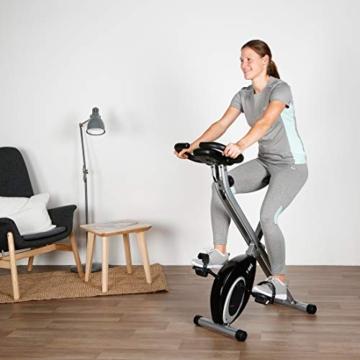 Ultrasport F-Bike, Cyclette da Allenamento, Home Trainer, Bici da Fitness Pieghevole con Computer di Allenamento e Sensori delle Pulsazioni, Peso massimo: 110 kg, Nero - 5