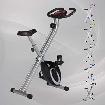 Ultrasport F-Bike, Cyclette da Allenamento, Home Trainer, Bici da Fitness Pieghevole con Computer di Allenamento e Sensori delle Pulsazioni, Peso massimo: 110 kg, Nero - 7