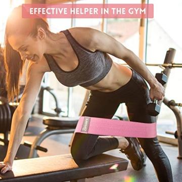 Yabife Set Fasce Elastiche Fitness, Bande Elastiche Fitness con 3 Livelli di Resistenza Portatile Attrezzi Palestra casa per Yoga Pilates Squat Braccia Gambe e Glutei - 7