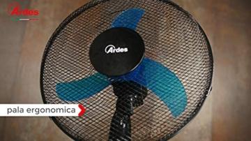 Ardes Penny AR5AM30 Ventilatore da Tavolo, 3 Pale 30 cm con Oscillazione e Inclinazione Regolabile, 3 velocità - 4