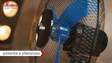 Ardes Penny AR5AM30 Ventilatore da Tavolo, 3 Pale 30 cm con Oscillazione e Inclinazione Regolabile, 3 velocità - 5