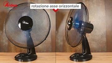 Ardes Penny AR5AM30 Ventilatore da Tavolo, 3 Pale 30 cm con Oscillazione e Inclinazione Regolabile, 3 velocità - 6