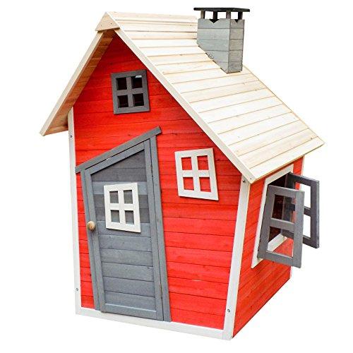 Casetta Giocattolo Ecologica per Bambini in Legno di Abete Rosso Casa di Legno Giardino - 1