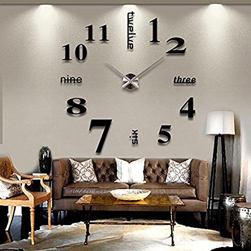 Da.Wa Orologio da Parete 3D con i Numeri Fai da te Adesivi Decorazione Moderna Ornamento per la Casa in Camera - 1