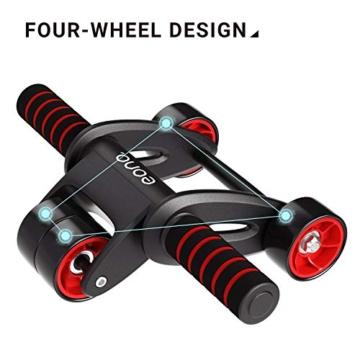 Eono by Amazon - Ab Roller Pieghevole Addominali Wheel con Tappetino Ginocchia Perfetto per Esercizi degli Addominali, Fitness Allenamento, Palestra - 5