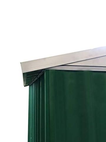 Eurobrico Casetta Garage da Giardino Porta Utensili Box in LAMIERA ZINCATA 0,27 mm Verniciata di Verde con Porte scorrevoli (XL L267 x P300 x H194) - 2