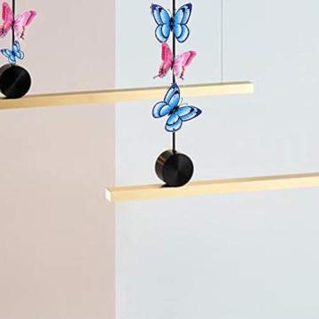 Farfalla artificiale a doppia ali 3D, decorazione di nozze/festa/casa, farfalla di simulazione artigianale, adesivo da parete farfalla misto 6 colori, 12 pezzi (Rosa) - 2