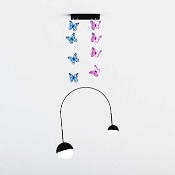 Farfalla artificiale a doppia ali 3D, decorazione di nozze/festa/casa, farfalla di simulazione artigianale, adesivo da parete farfalla misto 6 colori, 12 pezzi (Rosa) - 3