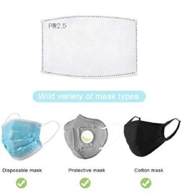 Guarnizione antiappannamento diserbo PM2.5 elemento filtrante protezione carbone attivo protezione antinquinamento antiappannamento 50 PZ - 5