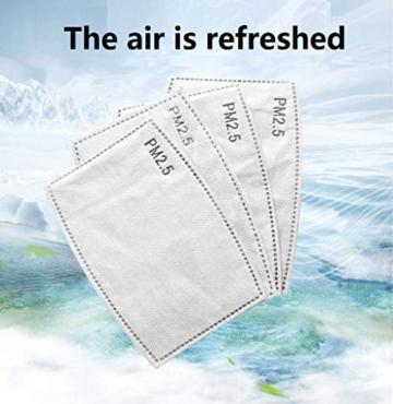 Guarnizione antiappannamento diserbo PM2.5 elemento filtrante protezione carbone attivo protezione antinquinamento antiappannamento 50 PZ - 6