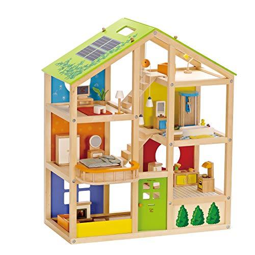 Hape- Casa 4 Stagioni Arredata Giocatollo, Multicolore, E3401 - 1