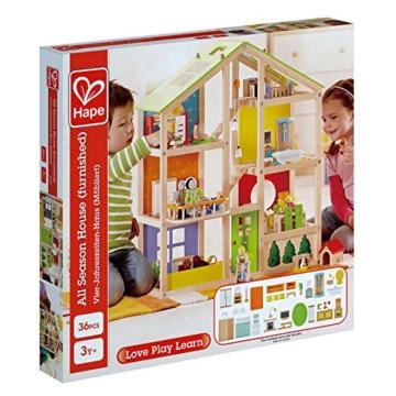 Hape- Casa 4 Stagioni Arredata Giocatollo, Multicolore, E3401 - 2