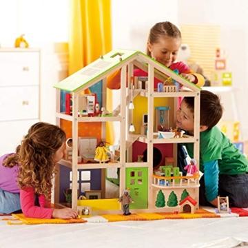 Hape- Casa 4 Stagioni Arredata Giocatollo, Multicolore, E3401 - 3