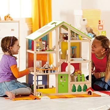 Hape- Casa 4 Stagioni Arredata Giocatollo, Multicolore, E3401 - 4