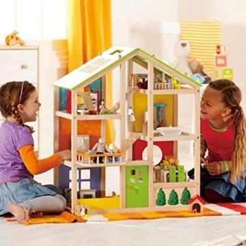 Hape- Casa 4 Stagioni Arredata Giocatollo, Multicolore, E3401 - 5