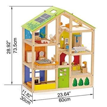 Hape- Casa 4 Stagioni Arredata Giocatollo, Multicolore, E3401 - 6
