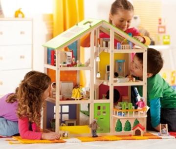 Hape- Casa 4 Stagioni Arredata Giocatollo, Multicolore, E3401 - 8