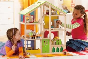 Hape- Casa 4 Stagioni Arredata Giocatollo, Multicolore, E3401 - 9