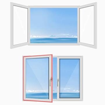 HOOMEE 300CM Guarnizione Universale per Finestre per Condizionatore Portatile, Asciugatrice – Per Tutti Climatizzatori Mobili, Facile da Montare – Con zip, Chiusura a Strappo - 8