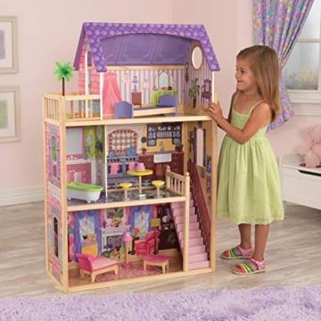 KidKraft 65092 Casa legno Kayla per bambole di 30cm con 10 accessori inclusi e 3 livelli di gioco, Multicolore - 2