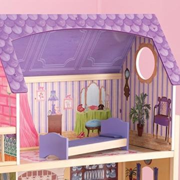 KidKraft 65092 Casa legno Kayla per bambole di 30cm con 10 accessori inclusi e 3 livelli di gioco, Multicolore - 11