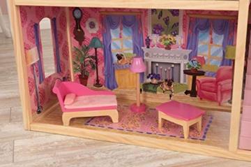 KidKraft 65092 Casa legno Kayla per bambole di 30cm con 10 accessori inclusi e 3 livelli di gioco, Multicolore - 3