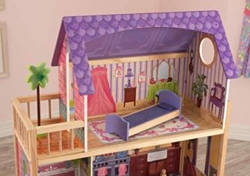KidKraft 65092 Casa legno Kayla per bambole di 30cm con 10 accessori inclusi e 3 livelli di gioco, Multicolore - 4