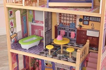 KidKraft 65092 Casa legno Kayla per bambole di 30cm con 10 accessori inclusi e 3 livelli di gioco, Multicolore - 6