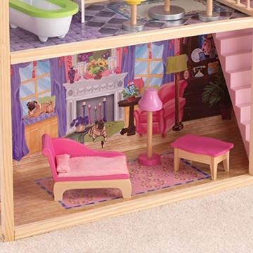 KidKraft 65092 Casa legno Kayla per bambole di 30cm con 10 accessori inclusi e 3 livelli di gioco, Multicolore - 8