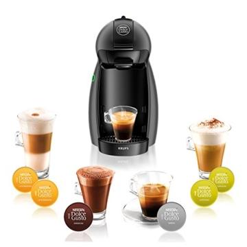 Krups KP100B Nescafé Dolce Gusto Piccolo - Macchina per Caffé Espresso in capsule e Altre Bevande, 1500 W, 15 BAR Nero (Antracite) - 6