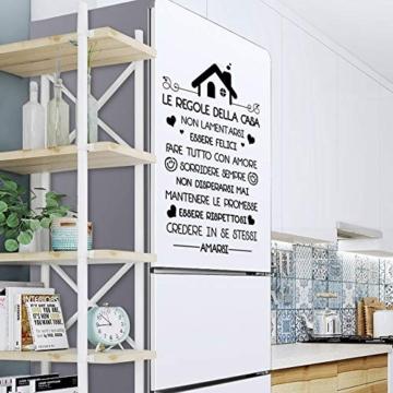 Le Regole della Casa Italiano Adesivi da Parete Muro Adesivo Murali Decorativo Decorazione fai da te Domestica Porta Camera da Letto Soggiorno - 6