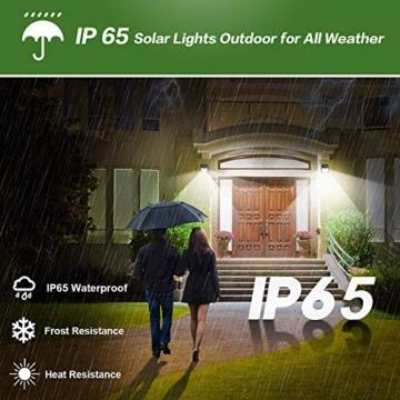 Luce Solare Led Esterno, 【6 Pezzi-1000lumen】iPosible 150 LED Lampada Solare da Esterno Luce Led Esterno Solare con Sensore di Movimento Luci Esterno Energia Solare IP65 Luci Solari per Giardino - 2