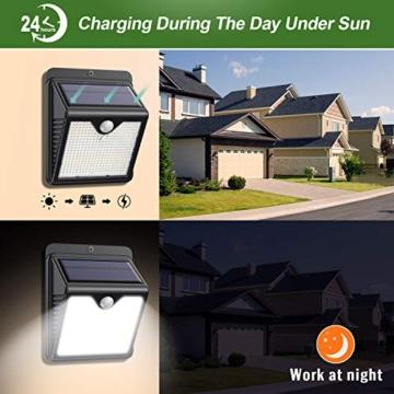 Luce Solare Led Esterno, 【6 Pezzi-1000lumen】iPosible 150 LED Lampada Solare da Esterno Luce Led Esterno Solare con Sensore di Movimento Luci Esterno Energia Solare IP65 Luci Solari per Giardino - 7