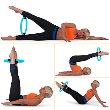 MANTRA SPORTS Ring Pilates Magic Circles – Anello Pilates per Tonificare e Sviluppare la Muscolatura di Interno e Esterno Coscia – Yoga Wheel - Attrezzi Palestra Casa con Poster e Custodia - 5