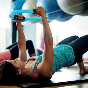 MANTRA SPORTS Ring Pilates Magic Circles – Anello Pilates per Tonificare e Sviluppare la Muscolatura di Interno e Esterno Coscia – Yoga Wheel - Attrezzi Palestra Casa con Poster e Custodia - 6