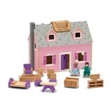 Melissa and Doug Gioco in legno Casa delle bambole trasportabile - 1