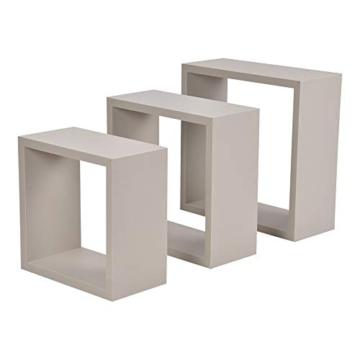 Modul'Home 6RAN789BC - Mensole a cubo, in MDF, 11,8 x 30 x 30 cm, Pannello MDF, Tortora, 3 Taglie 23 cm/26,5 cm/30 cm - 2